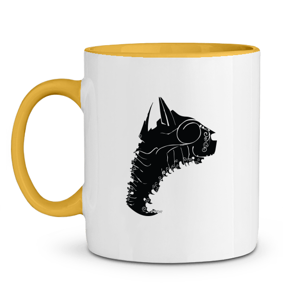 motif imprimé sur mug