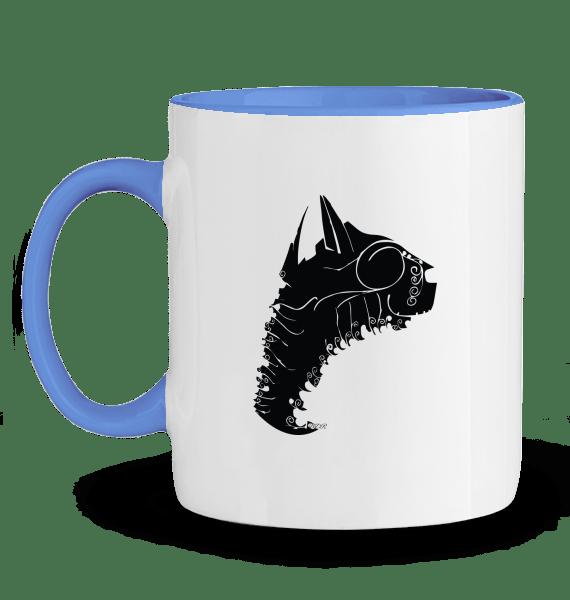 dessin de chat noir sur mug