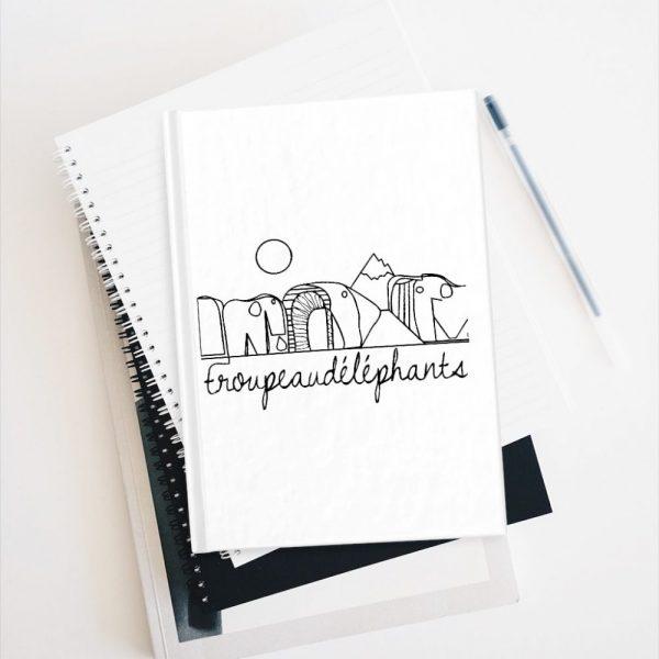 Carnet Note Book avec Motif Eléphants