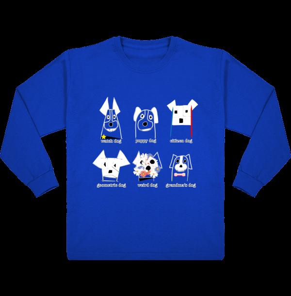 tee-shirt enfant manches longues chiens imprimés