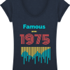 T-shirt Col-V Famous - French Navy - Face