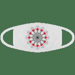 Masque Covid Imprimé Mandala - Blanc - Face